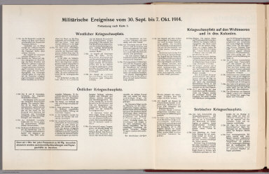 Text: Report Nr. 3 on World War I, Military Events of the Week ... to October 7, 1914.