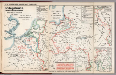 World War I Map (German), Nr. 4. Military Events ... to October 7, 1914.