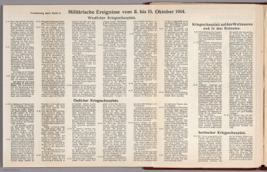 Text: Report Nr. 4 on World War I, Military Events of the Week ... to October 15, 1914.