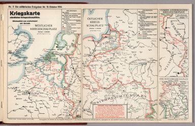 World War I Map (German), Nr. 5. Military Events ... to October 15, 1914.
