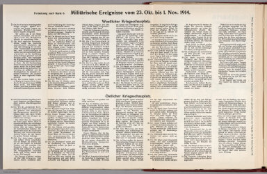 Text: Report Nr. 6 on World War I, Military Events of the Week ... to November 1, 1914.