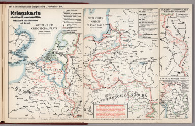 World War I Map (German), Nr. 7. Military Events ... to November 1, 1914.