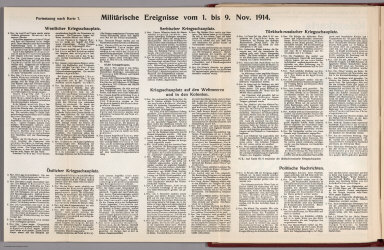 Text: Report Nr. 7 on World War I, Military Events of the Week ... to November 9, 1914.