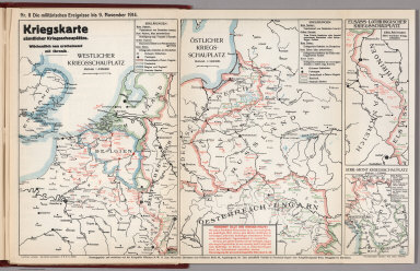World War I Map (German), Nr. 8. Military Events ... to November 9, 1914.