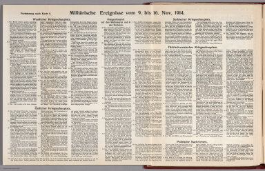 Text: Report Nr. 8 on World War I, Military Events of the Week ... to November 16, 1914.