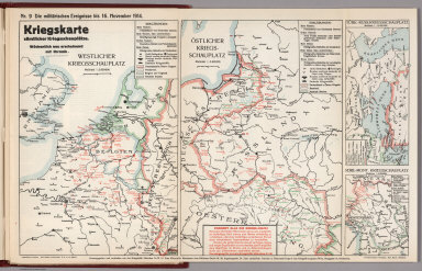 World War I Map (German), Nr. 9. Military Events ... to November 16, 1914.