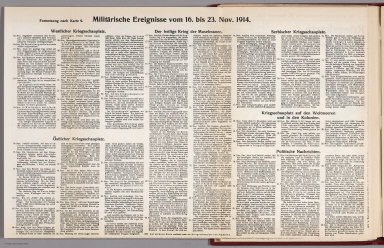 Text: Report Nr. 9 on World War I, Military Events of the Week ... to November 23, 1914.