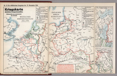 World War I Map (German), Nr. 10. Military Events ... to November 23, 1914.