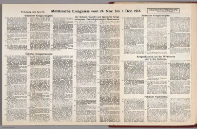 Text: Report Nr. 10 on World War I, Military Events of the Week ... to December 1, 1914.