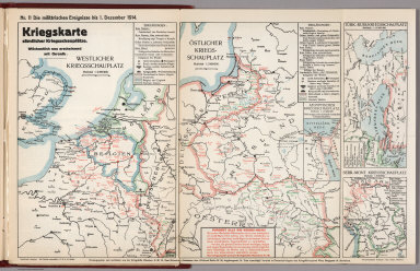 World War I Map (German), Nr. 11. Military Events ... to December 1, 1914.