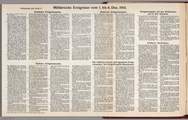 Text: Report Nr. 11 on World War I, Military Events of the Week ... to December 8, 1914.