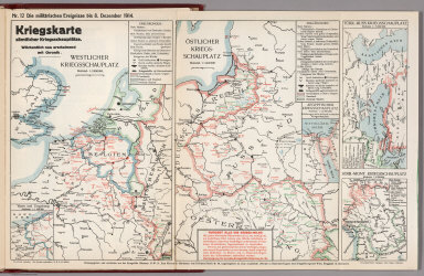 World War I Map (German), Nr. 12. Military Events ... to December 8, 1914.