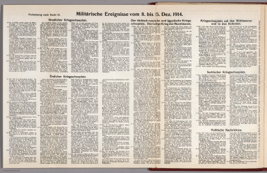 Text: Report Nr. 12 on World War I, Military Events of the Week ... to December 15, 1914.