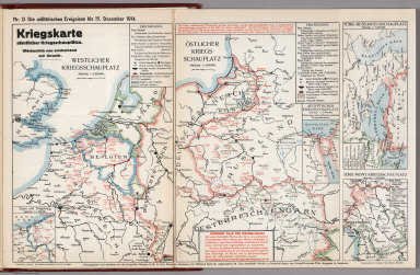 World War I Map (German), Nr. 13. Military Events ... to December 15, 1914.