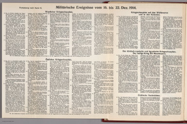 Text: Report Nr. 13 on World War I, Military Events of the Week ... to December 22, 1914.