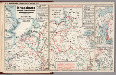 World War I Map (German), Nr. 14. Military Events ... to December 22, 1914.