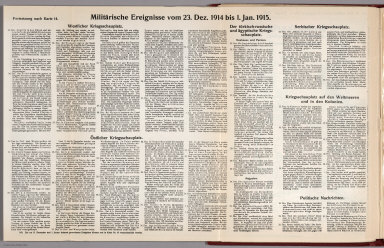 Text: Report Nr. 14 on World War I, Military Events of the Week ... to January 1, 1914.