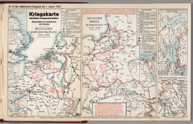 World War I Map (German), Nr. 15. Military Events ... to January 1, 1915.