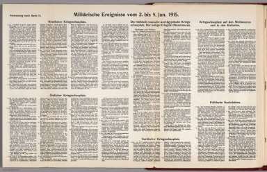 Text: Report Nr. 15 on World War I, Military Events of the Week ... to January 9, 1915.