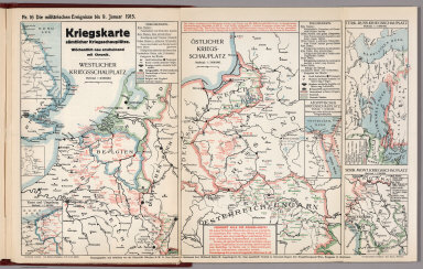 World War I Map (German), Nr. 16. Military Events ... to January 9, 1915.