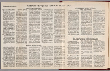 Text: Report Nr. 16 on World War I, Military Events of the Week ... to January 16, 1915.