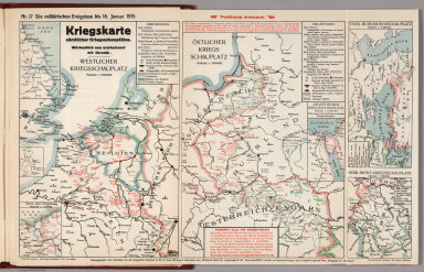 World War I Map (German), Nr. 17. Military Events ... to January 16, 1915.