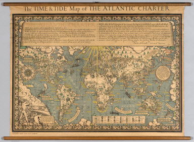 """The """"Time & Tide"""" Map of The Atlantic Charter."""