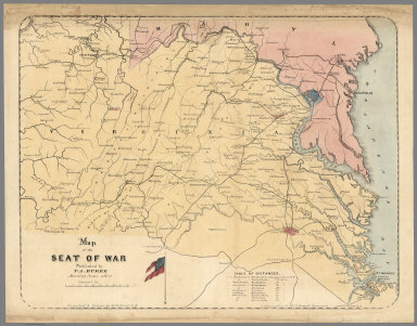 Browse All Images Of Virginia From US Civil War David Rumsey - Map Of The Us In The Civil War