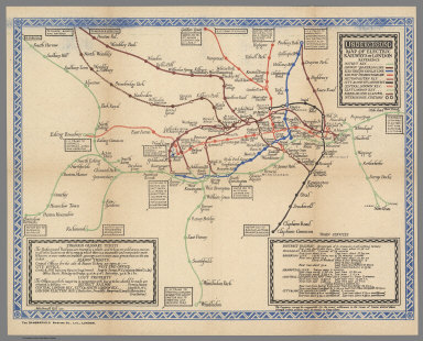 Underground : Map of the electric railways of London