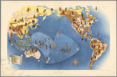 Plate I. Peoples of the World. Pageant of the Pacific.
