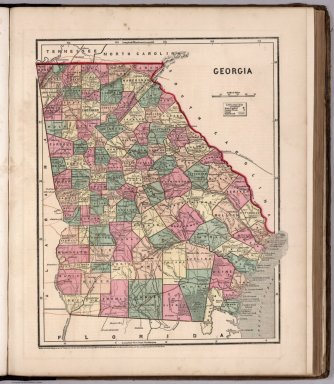 Map Of Georgia 1830.State And County Maps Of Georgia Georgia County Map