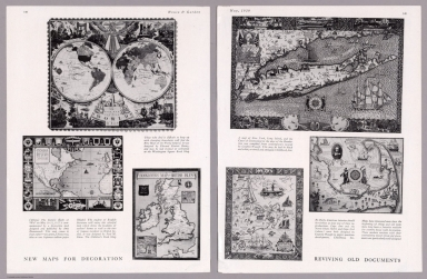 Composite Text: New maps for decoration : Reviving old documents. House & Garden, May 1929
