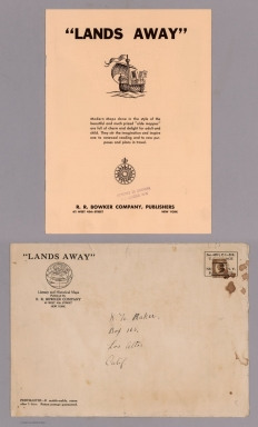 """Covers: """"Lands away"""" R.R. Bowker Company, Publishers"""