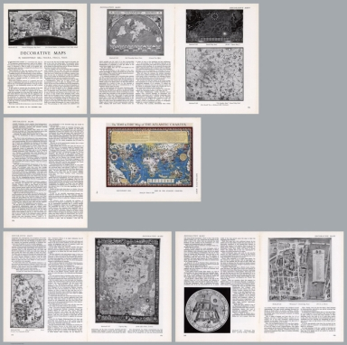 Composite Text: Decorative maps : by Macdonald Gill