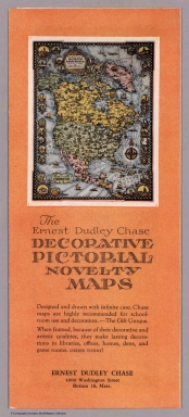 Covers: The Ernest Dudley Chase decorative pictorial novelty maps