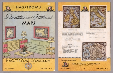 Covers: Hagstrom's decorative and historical maps