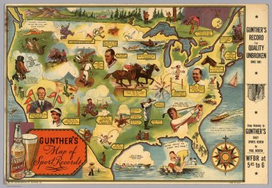 Gunther's Map of Sports Records.
