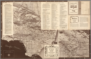 Sightseeing map of Los Angeles County