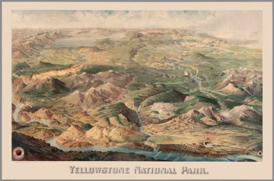 Yellowstone National Park. Copyright 1904 by Henry Wellge, Milwaukee.