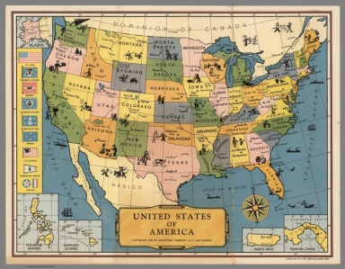 Browse All Pictorial Map Of United States David Rumsey - Paul bunyun in us map
