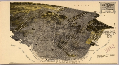 Peter's San Francisco locator : The bird's-eye-view of the Exposition city