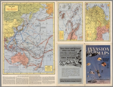 Browse All : Pictorial map from World War II - David Rumsey