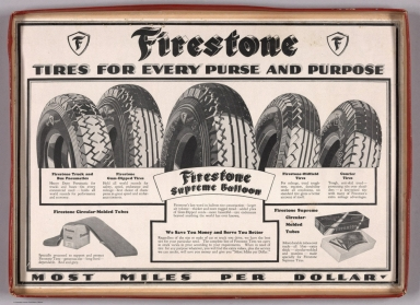 Advertisement: Firestone Tires for Every Purse and Purpose.