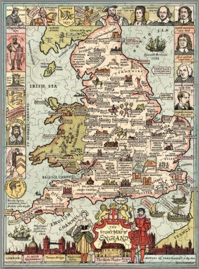 The story map of England. Egbert G. Jacobson (Puzzle version)