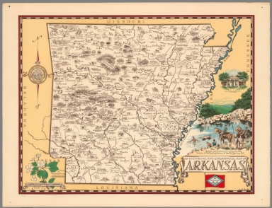 An historical and geographical map of Arkansas