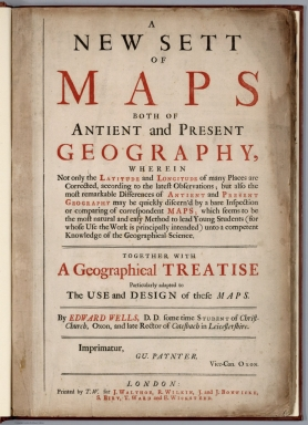 Title Page: A new set of maps both of antient and present geography