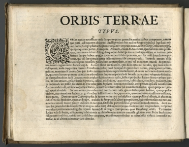 Text Page: Orbis terrae