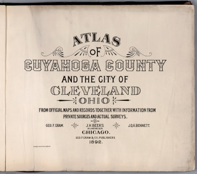 Title: Atlas of Cuyahoga County and the City of Cleveland, Ohio.