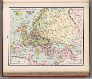 Map of Europe after Treaty of Vienna. A.D. 1815