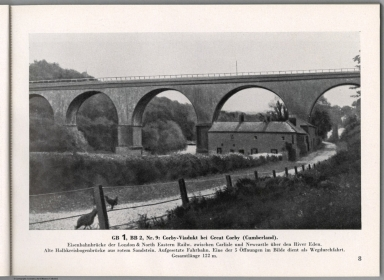 View: GB 1, BB 2, Nr. 9: Corby-Viadukt bei Great Corby (Cumberland), England.